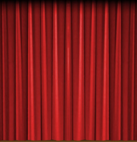 Circus curtain front left