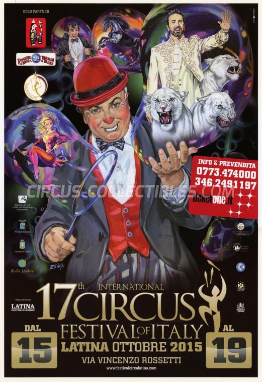 Festival Internazionale del Circo Città di Latina Circus Poster - Italy, 2015