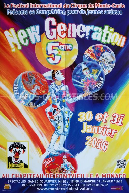 Festival International du Cirque de Monte-Carlo Circus Poster - Monaco, 2016