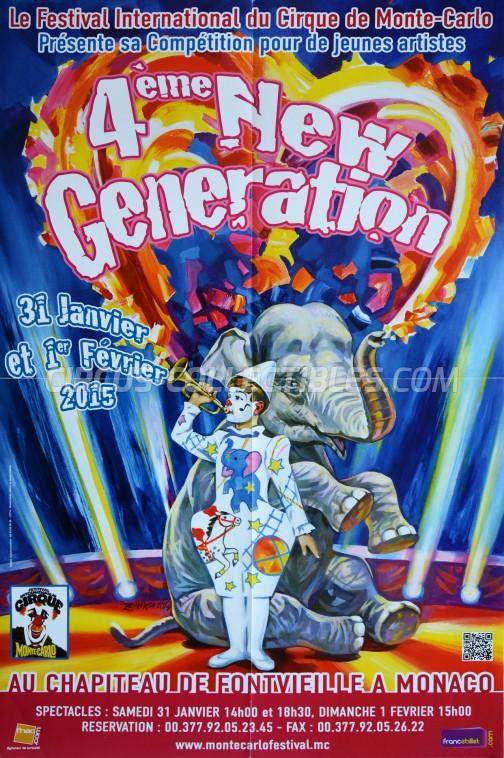 Festival International du Cirque de Monte-Carlo Circus Poster - Monaco, 2015