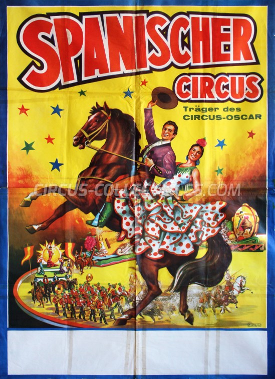 Spanischer National Circus Circus Poster - Germany, 1964