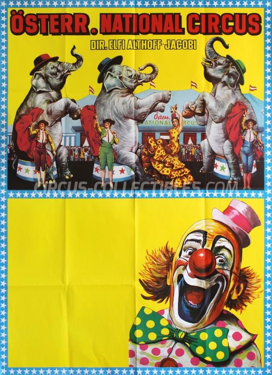 Elfi Althoff-Jacobi Circus Poster - Austria, 1987