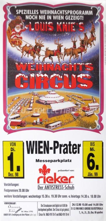 Louis Knie Circus Poster - Austria, 1998