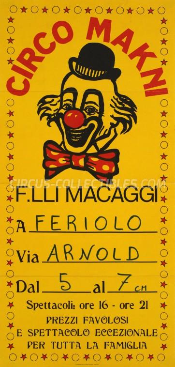 Makni Circus Poster - Italy, 1985