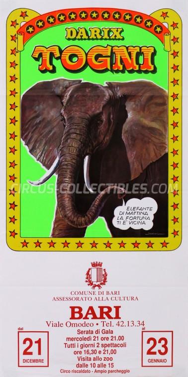 Darix Togni Circus Poster - Italy, 1988