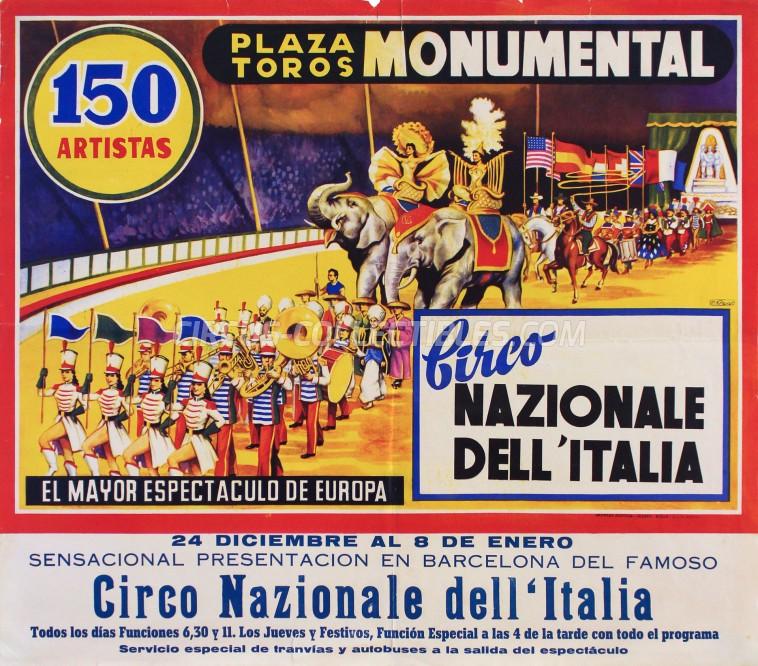 Circo Nazionale dell'Italia Circus Poster - Spain, 1960