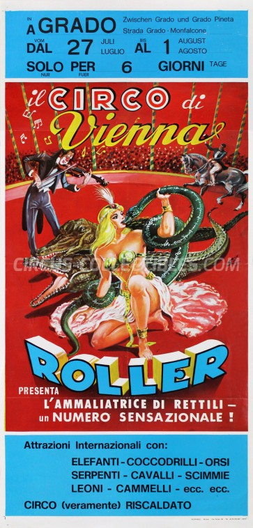 Roller di Vienna Circus Poster - Italy, 1976