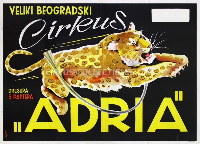 Adria Circus Poster - Serbia, 1954