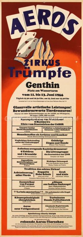 Aeros Circus Poster - Germany, 1966