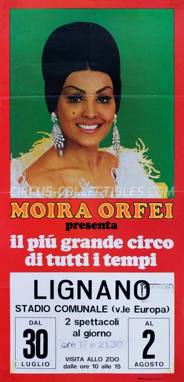 Moira Orfei Circus Poster - Italy, 1976