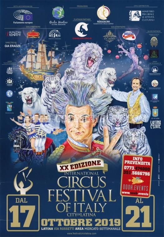 Festival Internazionale del Circo Città di Latina Circus Poster - Italy, 2019