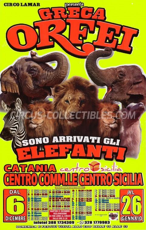 Greca Orfei Circus Poster - Italy, 2019