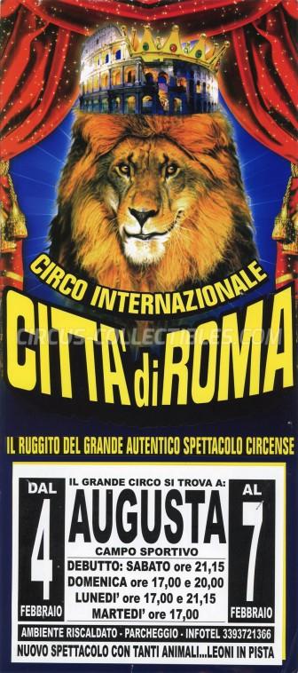Citta' di Roma Circus Poster - Italy, 2012