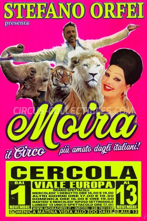 Moira Orfei Circus Poster - Italy, 2017