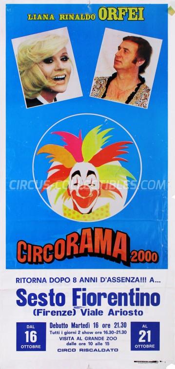 Liana e Rinaldo Orfei Circus Poster - Italy, 1984