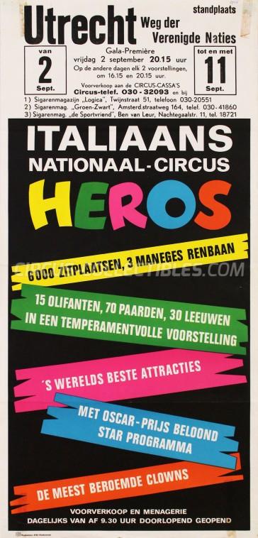 Heros Circus Poster - Italy, 1966