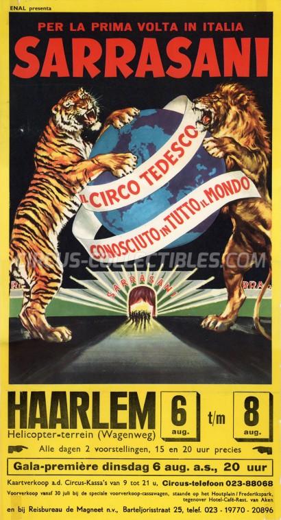 Sarrasani Circus Poster - Germany, 1968