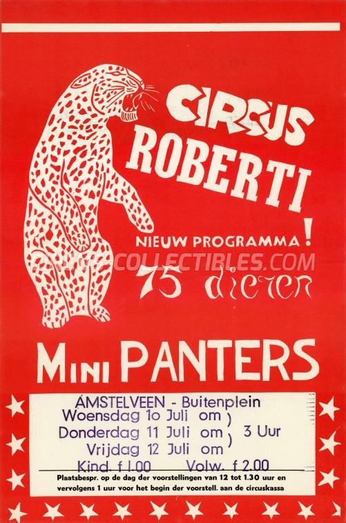 Roberti Circus Poster - Netherlands, 1968