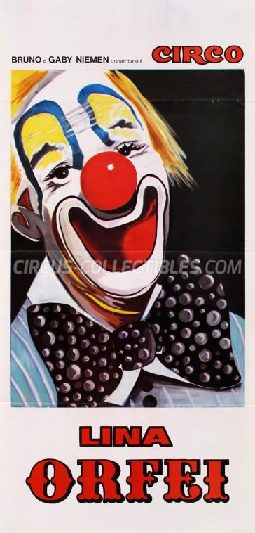Lina Orfei Circus Poster - Italy, 1978