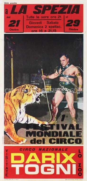 Darix Togni Circus Poster - Italy, 1968