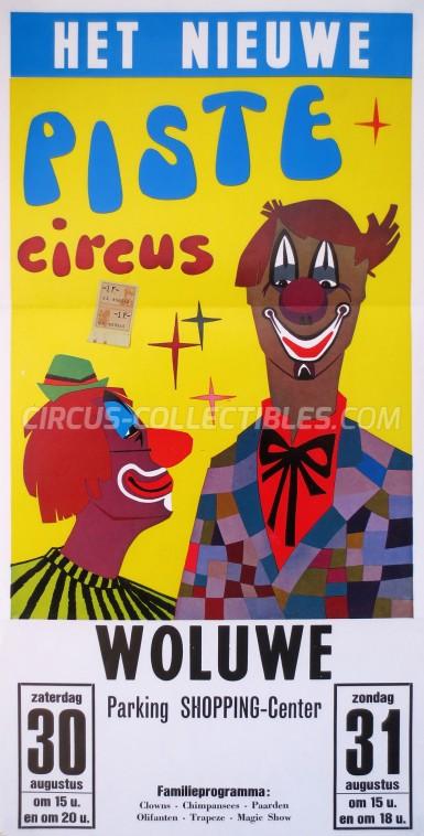 Piste Circus Circus Poster - Belgium, 1986
