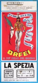 Nando-Liana-Rinaldo Orfei Circus poster - Italy, 1968