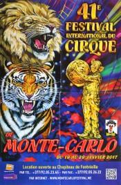 41eme Festival International du Cirque de Monte-Carlo Circus poster - Monaco, 2017