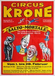 Circus Krone Circus poster - Germany, 1984