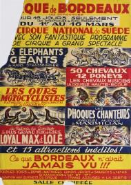 Cirque de Bordeaux Circus poster - France, 1951