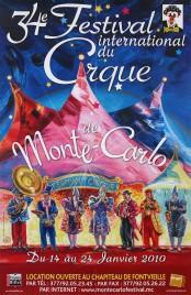 34e Festival International du Cirque de Monte-Carlo Circus poster - Monaco, 2010
