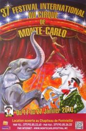 37e Festival International du Cirque de Monte-Carlo Circus poster - Monaco, 2013
