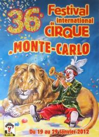 36e Festival International du Cirque de Monte-Carlo Circus poster - Monaco, 2012