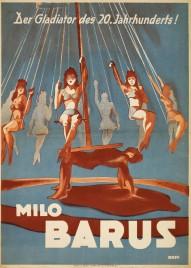 Milo Barus Circus poster - Germany, 1947