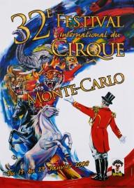 32e Festival International du Cirque de Monte-Carlo Circus poster - Monaco, 2008