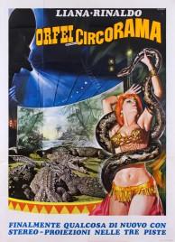 Liana e Rinaldo - Orfei Circorama Circus poster - Italy, 1977
