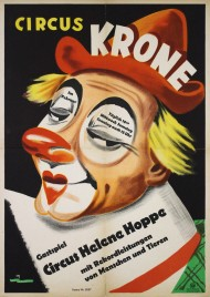 Circus Krone gastspiel Circus Helene Hoppe Circus poster - Germany, 1947