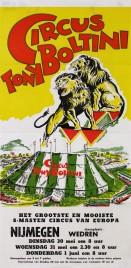 Circus Tony Boltini Circus poster - Netherlands, 1961
