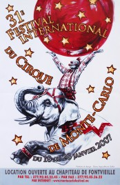 31e Festival International du Cirque de Monte-Carlo Circus poster - Monaco, 2007