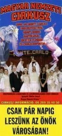 Magyar Nemzeti Circusz Circus poster - Hungary, 2008