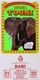 Circo Darix Togni Circus poster - Italy, 1988