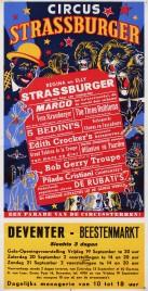 Circus Strassburger Circus poster - Netherlands, 1958