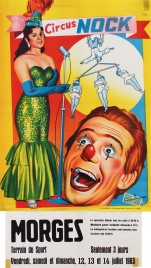 Circus Nock Circus poster - Switzerland, 1963