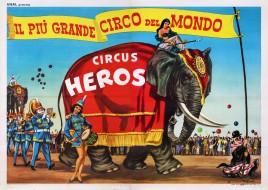 Circus Heros Circus poster - Italy, 1962
