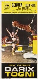 Circo Darix Togni Circus poster - Italy, 1963