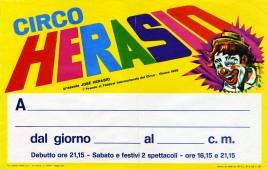 Circo Herasio Circus poster - Italy, 1972