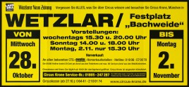 Circus Krone Circus poster - Germany, 2015