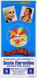 Liana Rinaldo Orfei - Circorama 2000 Circus poster - Italy, 1984
