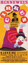 Cirkus Benneweis Circus poster - Denmark, 1969