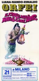 Liana-Nando-Rinaldo Orfei - Il Circo delle Mille e Una Notte Circus poster - Italy, 1973