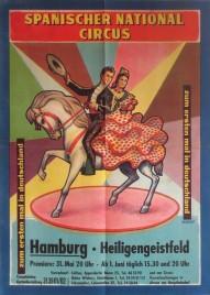 Spanischer National Circus Circus poster - Germany, 1962